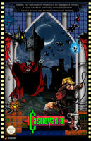 Castlevania NES Poster by whittingtonrhett