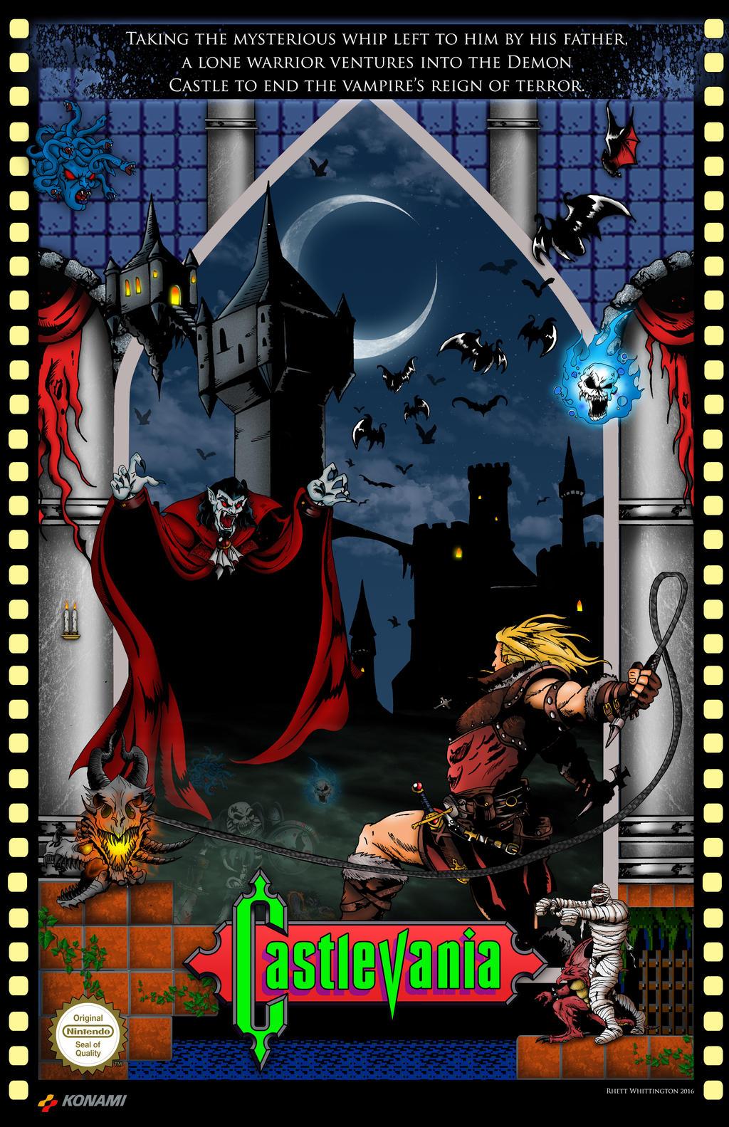 Castlevania NES Poster by whittingtonrhett