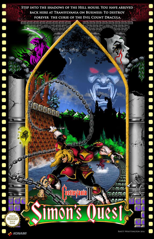 Castlevania 2 Simon S Quest Poster By Whittingtonrhett On