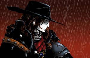 Vampire Hunter D in the Rain by whittingtonrhett