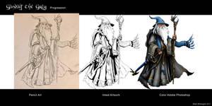 Gandalf Progression by whittingtonrhett