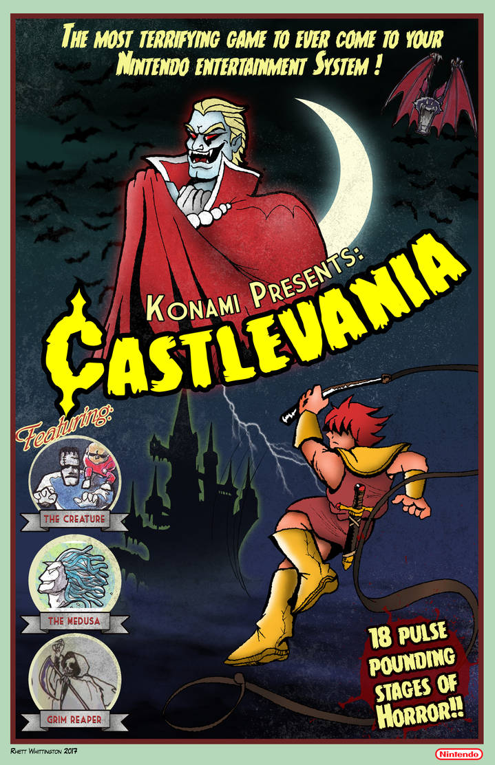 Retro Castlevania Poster by whittingtonrhett