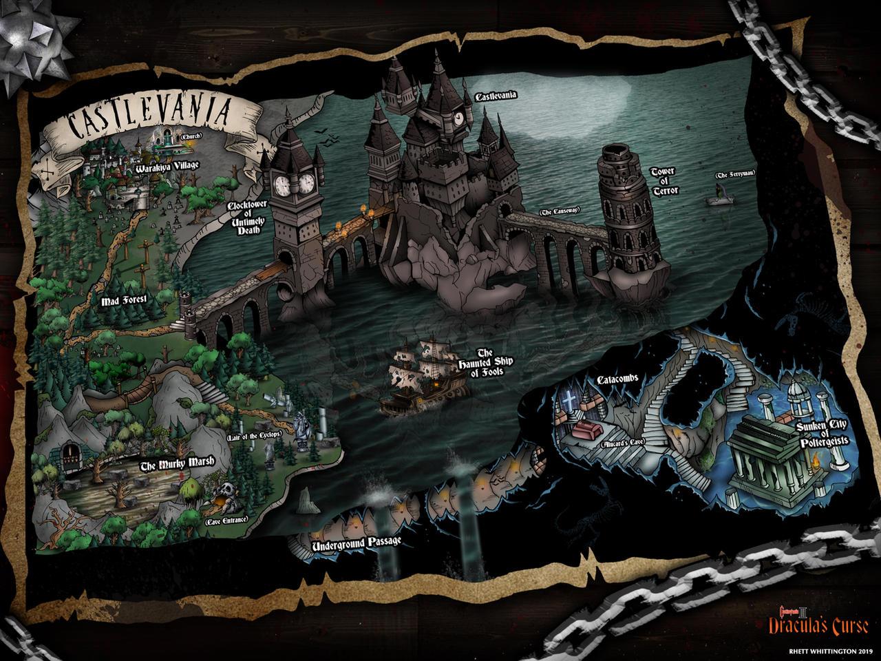 Castlevania 3 Dracula's Curse Map by whittingtonrhett on