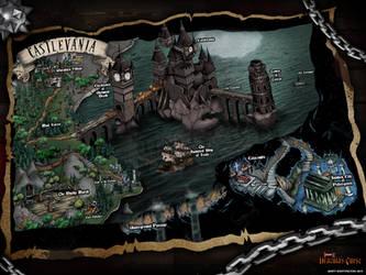 Castlevania 3 Dracula's Curse Map by whittingtonrhett