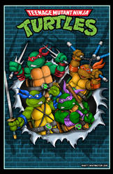 TMNT breaking through the wall official