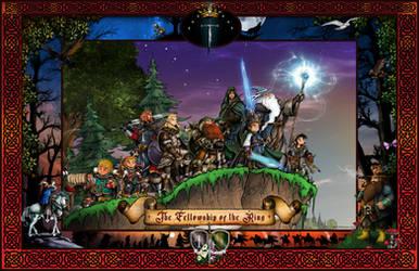 The Fellowship Poster by whittingtonrhett