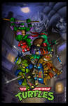 TMNT Poster 6 - Arcade Game cover remix