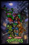 TMNT Poster 6 - Arcade Game cover remix by whittingtonrhett