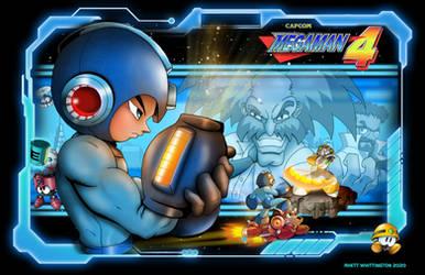 Megaman 4 poster Final by whittingtonrhett