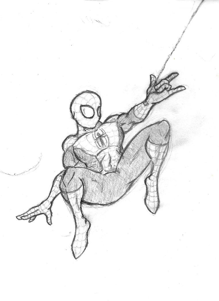 Spider-man swing by LordVanan