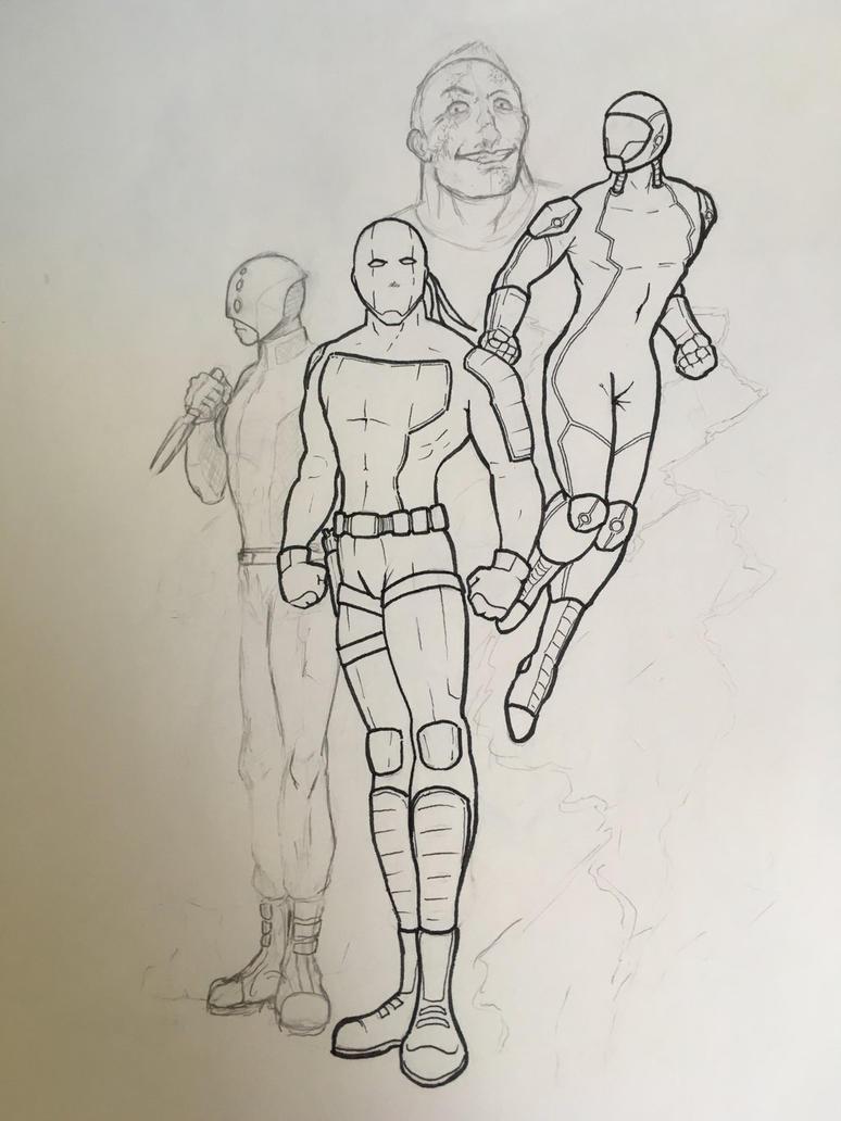 WIP super heroes by LordVanan