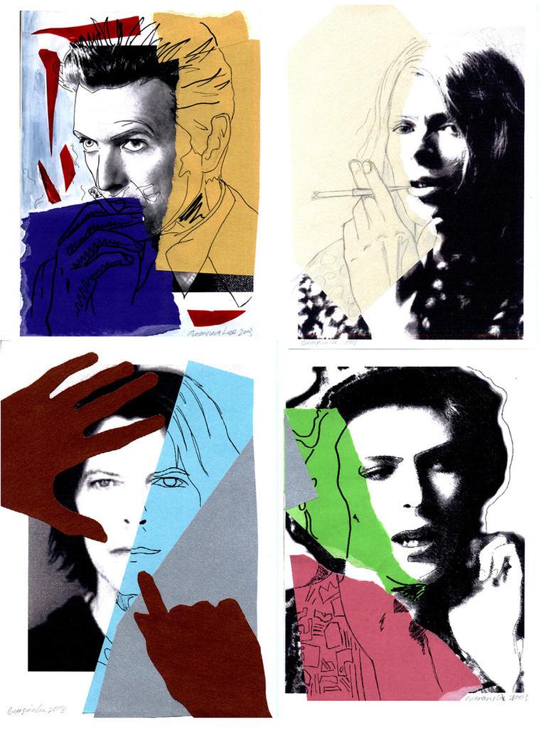 Warholian David Bowie by maeko-qinza