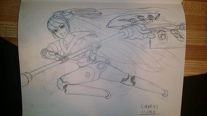 Sketchbook Labrys by dudeunderscore