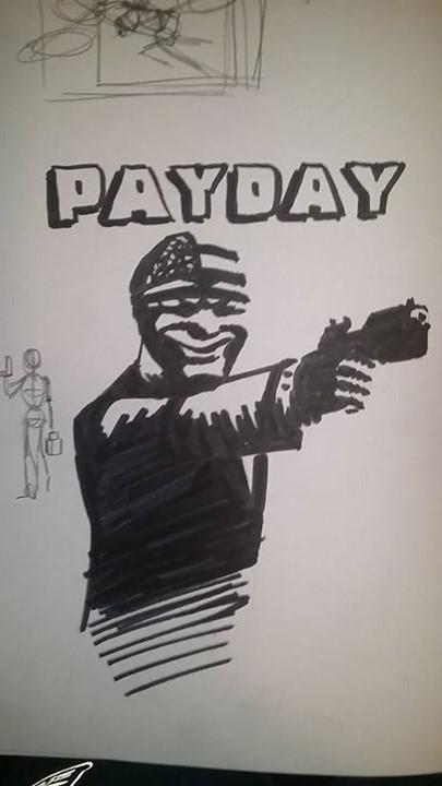 Sketchbook Payday by dudeunderscore
