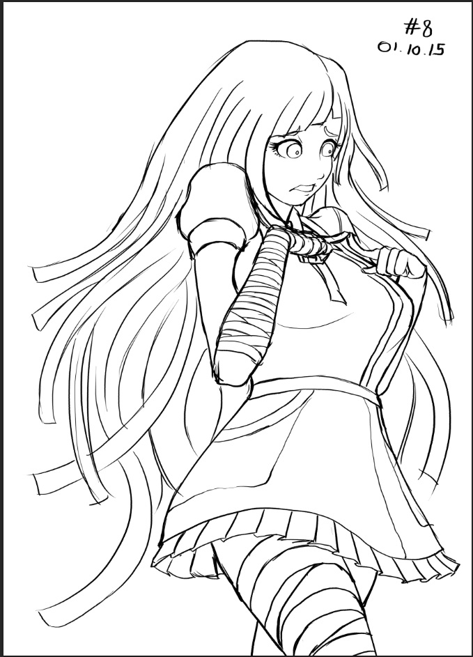 #108 Mikan Tsumiki Sketch by dudeunderscore