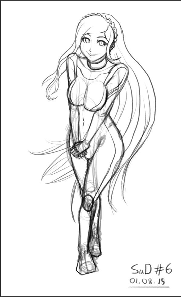 #106 Sonia Nevermind Sketch by dudeunderscore