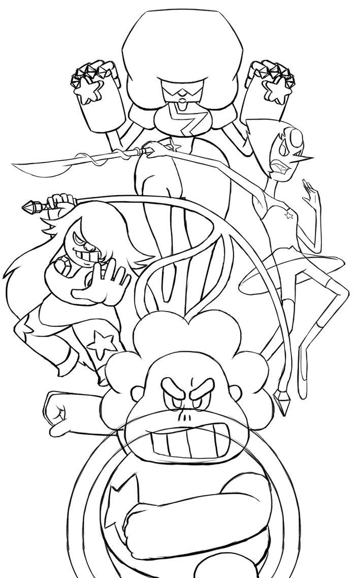 121 (Steven Universe Lineart) by dudeunderscore