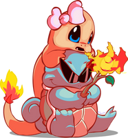 Charmander and Squirtle by Zaxlin