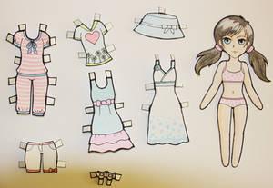 Dress up paper doll