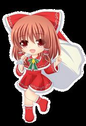 Santa Reimu by Kitsuneco