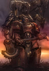 Techmarine Colored by MajesticChicken