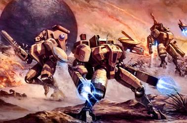 Battlesuits Ready by MajesticChicken