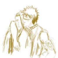 Hisagi and Kira by eltania