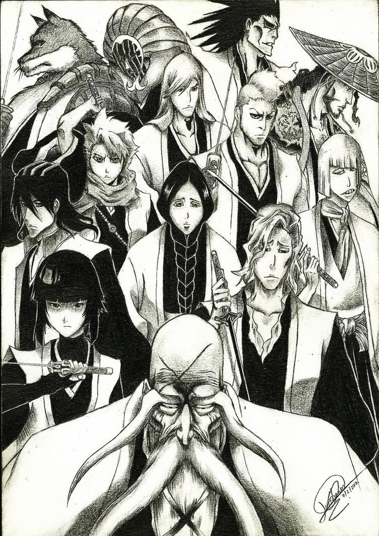 Bleach with Gotei 13 Captains by XAllenX
