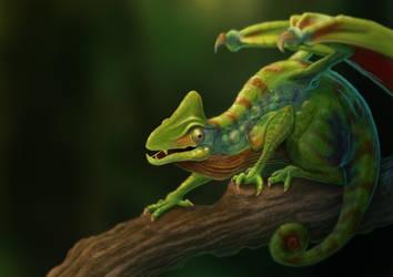 Chameleon Paint Photorealistic