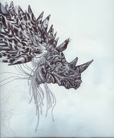 rhino tattoo god thing by gogetlo