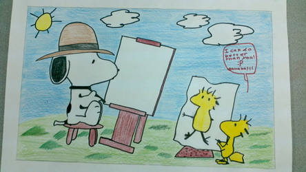Snoopy and Woodstock by GothicUndead101