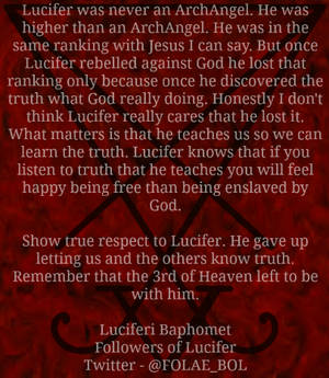 Truth about Lucifer