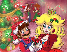 Super Mario Christmas!! by CheekySoup4U