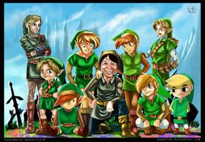 Zelda Tribute by paperlab