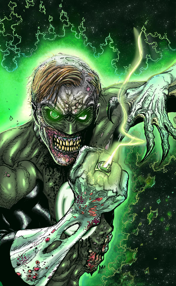 Zombie Green Lantern by paperlab