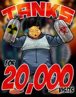 20k Tanks a lot by paperlab