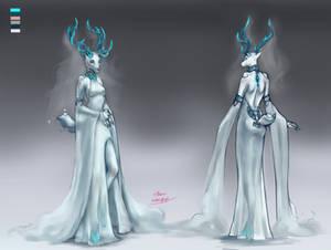 The goddess of winter