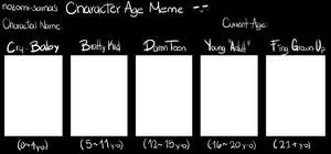 Character Age Meme Blank