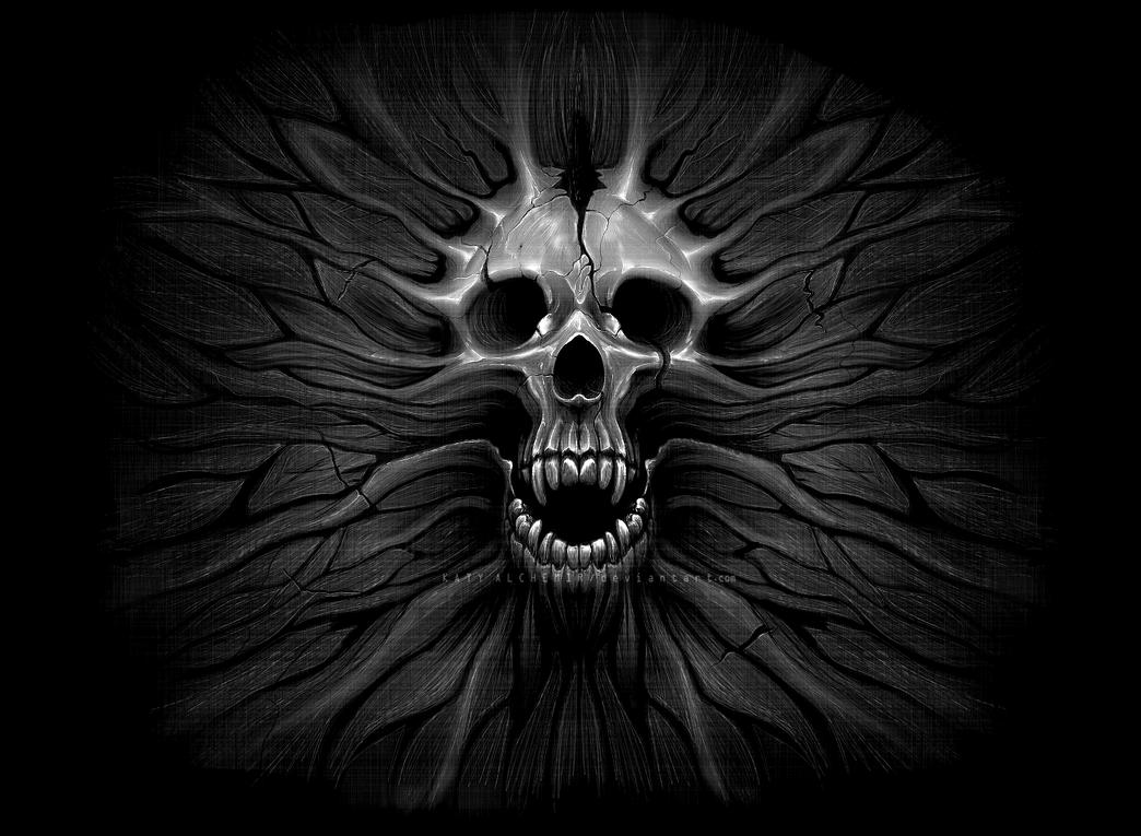 Skull Wallpaper (Remade) by KatyAlchemir