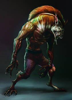 Some weird werewolf