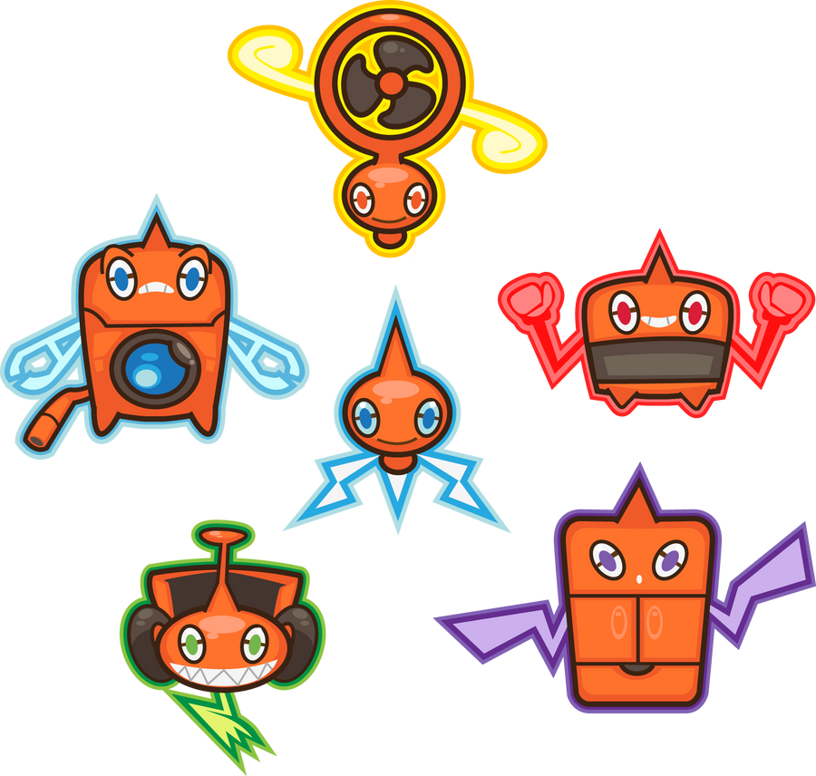 Rotom Motor Full Force By Pinkophilic On Deviantart