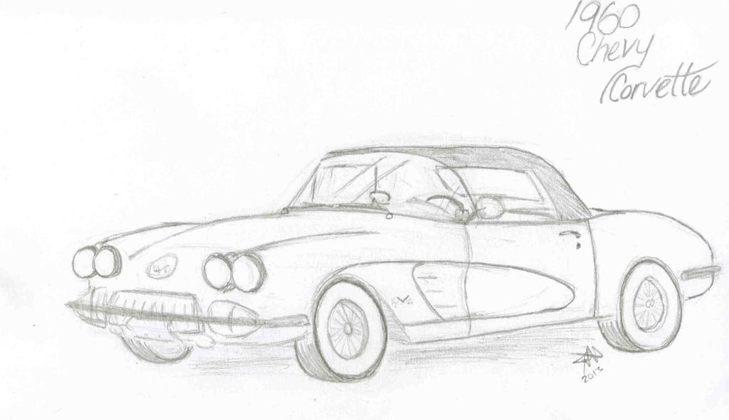corvette line drawing pictures to pin on pinterest