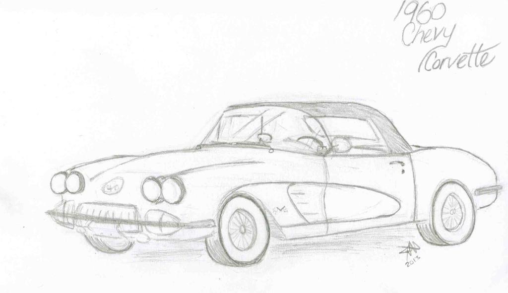 1960 chevy corvette sketch by ladyphoenix07 on deviantart