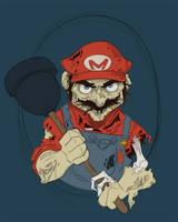 Zombie Mario WIP 02 by keepsake20