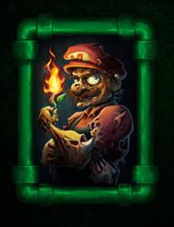 Zombie Mario by keepsake20