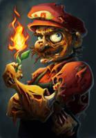 Zombie Mario... by keepsake20