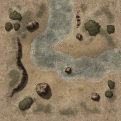 Shallow Desert Creek Bend TileAD11