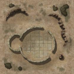 Desert Tower Ruins TileAD20