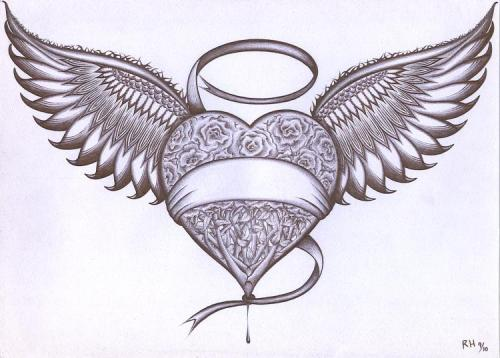 Heart With Wings by RenzoEHernandez on DeviantArt