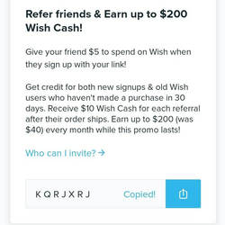 My Wish Shop Friends code